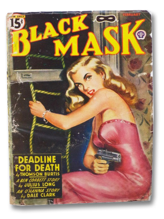 Black Mask Vol. XXVIII, No. 1, February, 1946 [Volume 28, Number I], Burtis, Thomson; Clark, Dale; Stratton, Ted; Long, Julius; Rough, William; Phillips, Roland