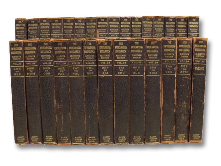 The Encyclopaedia Britannica: A Dictionary of Arts, Sciences, Literature and General Information -- Eleventh Edition, in 29 Volumes (Handy Volume Issue) [Encyclopedia Britannica 11th Scholar's Edition], Chisolm, Hugh (Editor)
