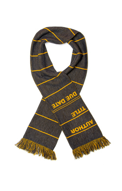 Library Card Scarf (Gray), Out of Print